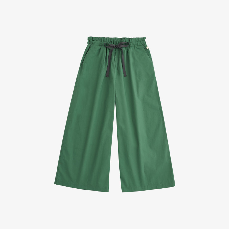 PANTS WIDE LEGS SAGE GREEN