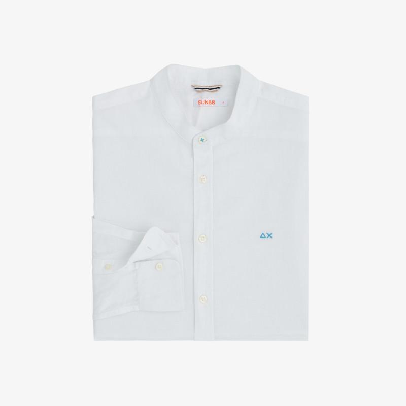 SHIRT LINEN KOREA L/S WHITE