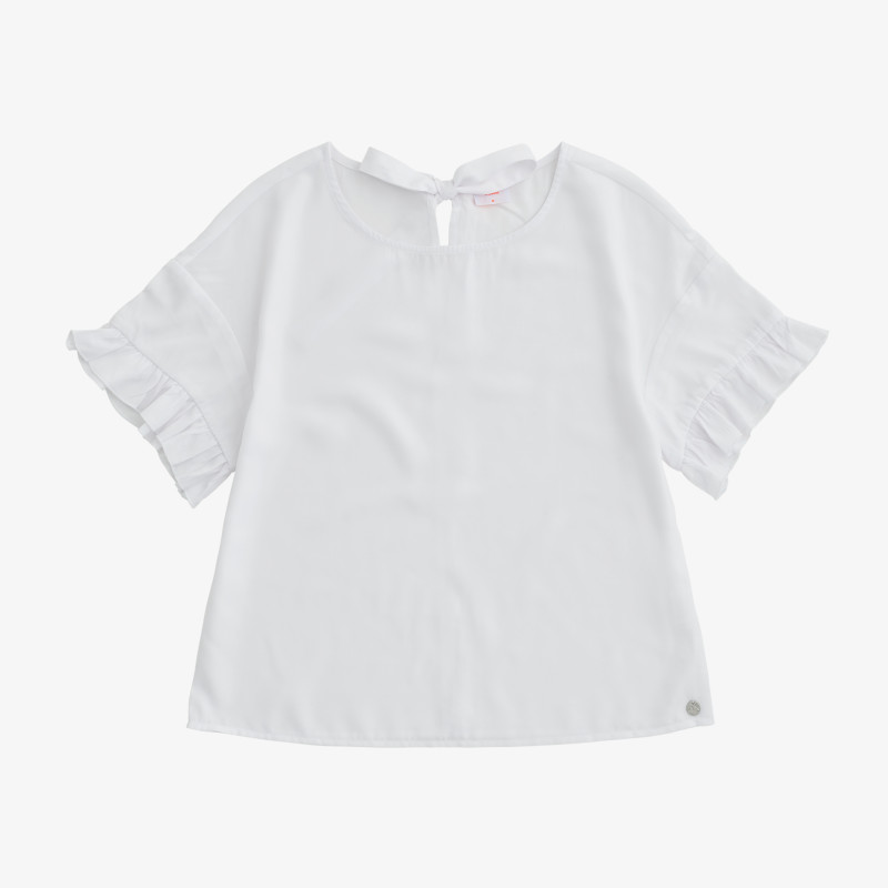 SHIRT VISCOSE S/S WHITE
