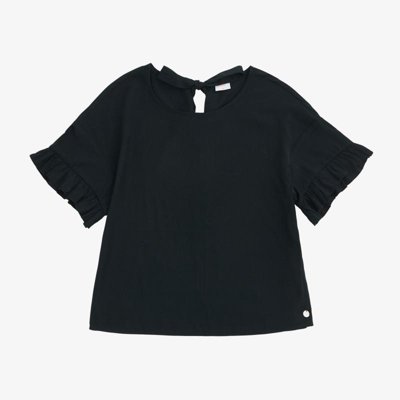 SHIRT VISCOSE S/S BLACK