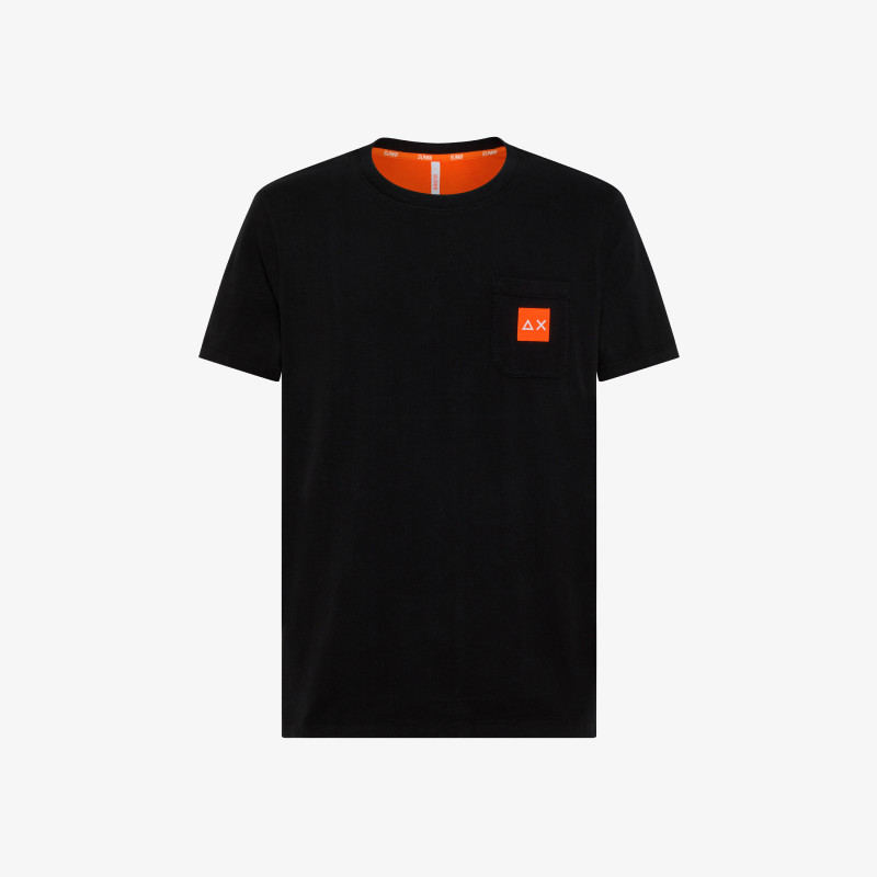 T-SHIRT SMALL LOGO FLUO S/S BLACK